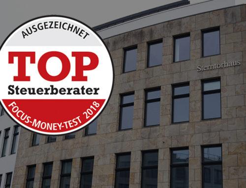 AUSGEZEICHNET – TOP STEUERBERATER 2018
