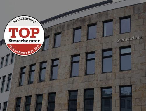 AUSGEZEICHNET – TOP STEUERBERATER 2017